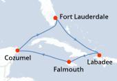Fort Lauderdale, Navigation, Haïti, Falmouth, Navigation, Cozumel, Navigation, Fort Lauderdale