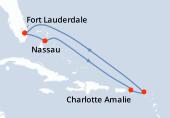 Fort Lauderdale, Nassau, Navigation, Charlotte Amalie, Saint-Martin, Navigation, Navigation, Fort Lauderdale