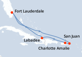 Fort Lauderdale, Navigation, Navigation, Charlotte Amalie, Porto Rico, Haïti, Navigation, Fort Lauderdale