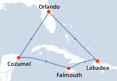 Orlando, Navigation, Haïti, Falmouth, Navigation, Cozumel, Navigation, Orlando