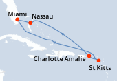 Miami, Navigation, Navigation, Saint Kitts, Charlotte Amalie, Navigation, Nassau, Miami