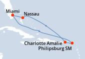 Miami, Navigation, Navigation, Saint-Martin, Charlotte Amalie, Navigation, Nassau, Miami
