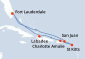 Fort Lauderdale, Navigation, Navigation, Charlotte Amalie, Saint Kitts, Porto Rico, Haïti, Navigation, Fort Lauderdale
