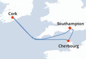 Southampton, Cherbourg, Navigation, Cork, Navigation, Southampton