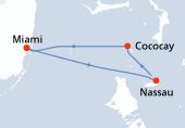 Miami, Nassau, CocoCay®, Navigation, Miami