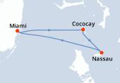 Miami, Navigation, CocoCay®, Nassau, Miami