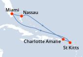 Miami, Nassau, Navigation, Charlotte Amalie, Saint Kitts, Navigation, Navigation, Miami