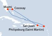 Miami, Navigation, Navigation, Saint-Martin, Porto Rico, Navigation, CocoCay®, Miami