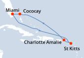 Miami, Navigation, Navigation, Saint Kitts, Charlotte Amalie, Navigation, CocoCay®, Miami