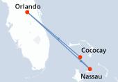 Orlando, Navigation, Nassau, CocoCay®, Orlando