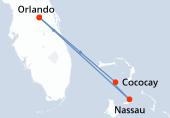 Orlando, CocoCay®, Nassau, Navigation, Orlando