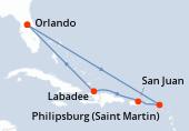 Orlando, Navigation, Navigation, Saint-Martin, Porto Rico, Haïti, Navigation, Orlando