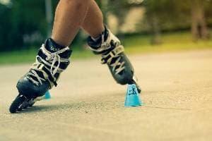 Piste de patins à roulettes