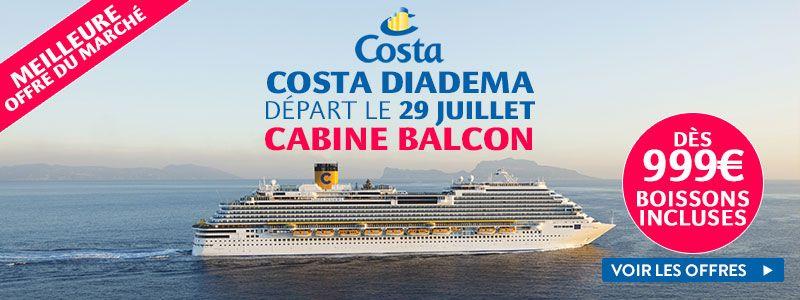 Exclusivité Croisieres.fr - Costa Diadema : Dernières cabines, départ le 13 mai à partir de 349€ pour 8 jours